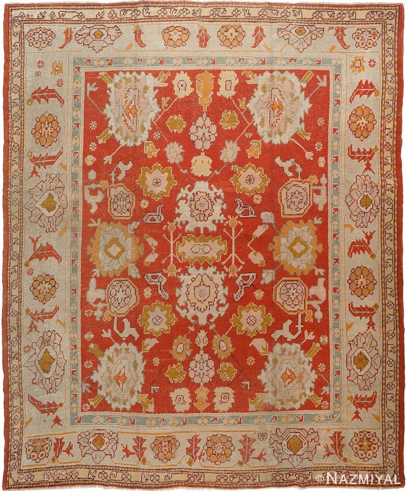 Antique Turkish Oushak Rug 90002 By