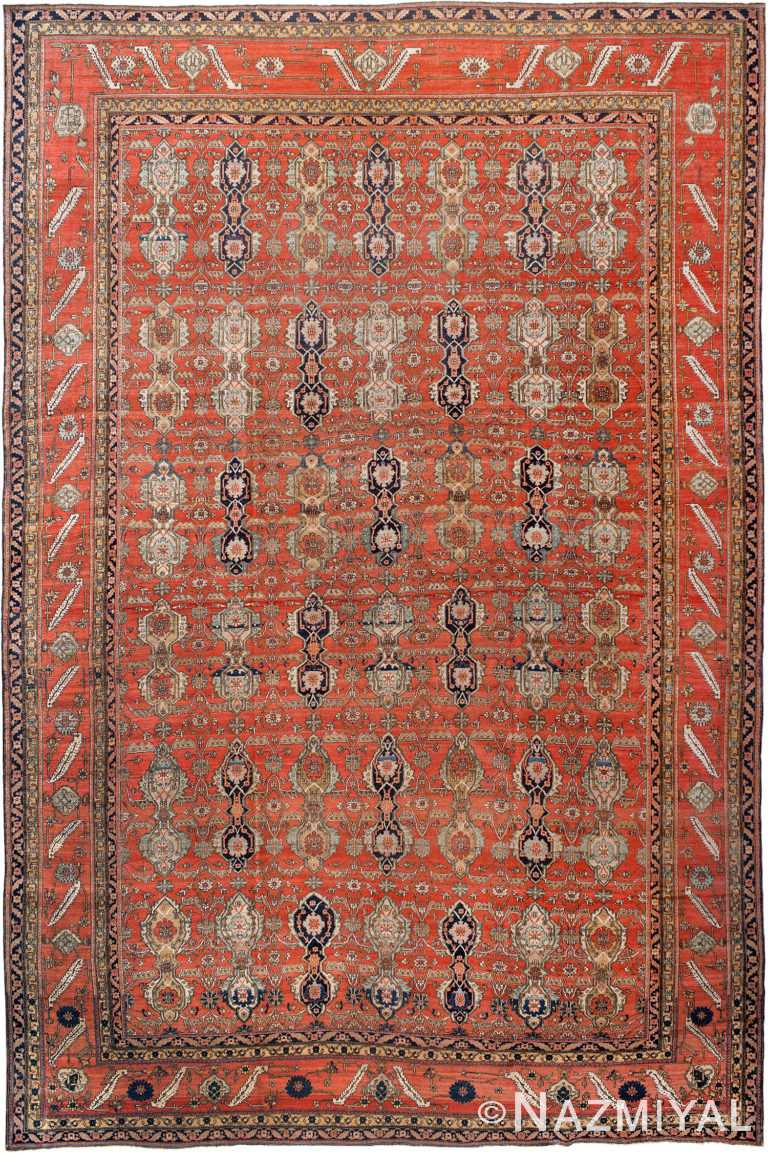 Large Antique Persian Mohtashem Kashan Rug 90010 by Nazmiyal Antique Rugs