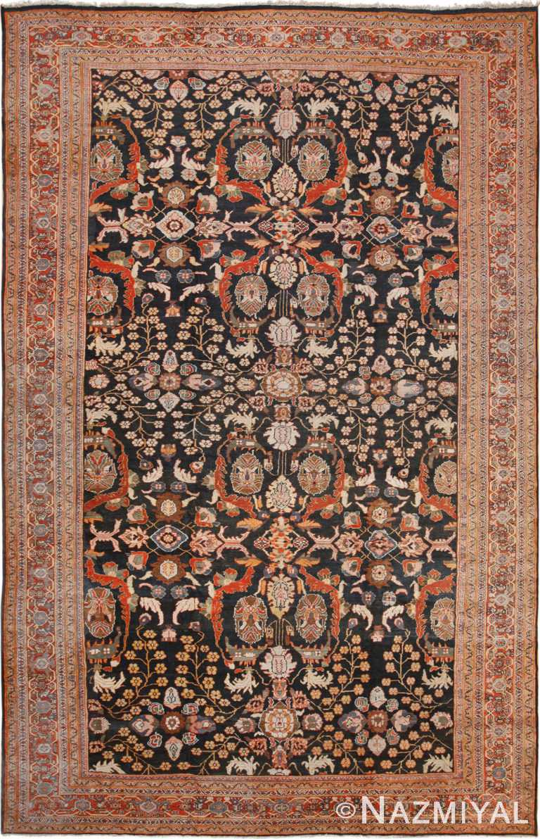 Large Antique Persian Sultanabad Rug 70292 by Nazmiyal NYC