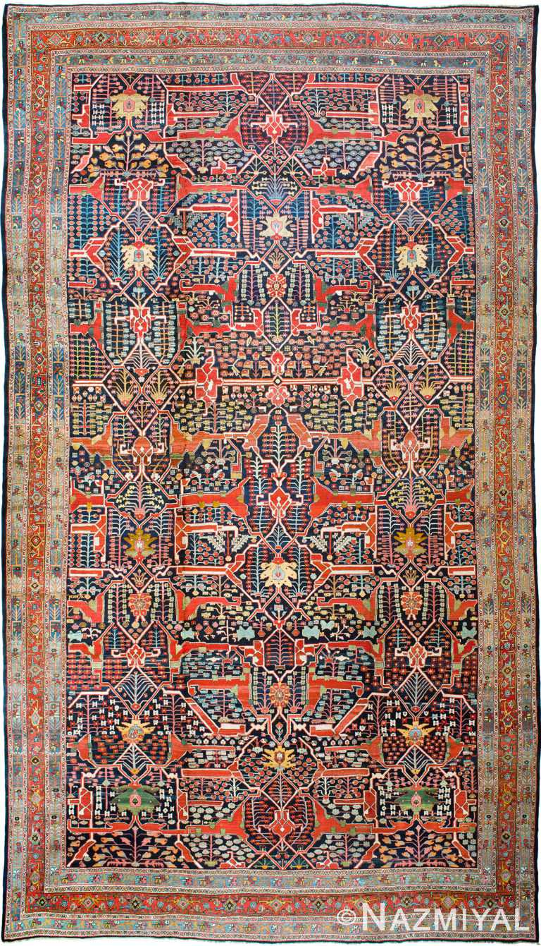 Antique Persian Bidjar Carpet by Nazmiyal