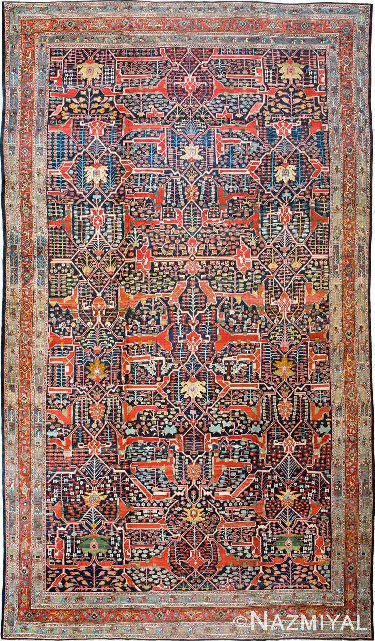 Antique Persian Bidjar Carpet #90003 by Nazmiyal Antique Rugs