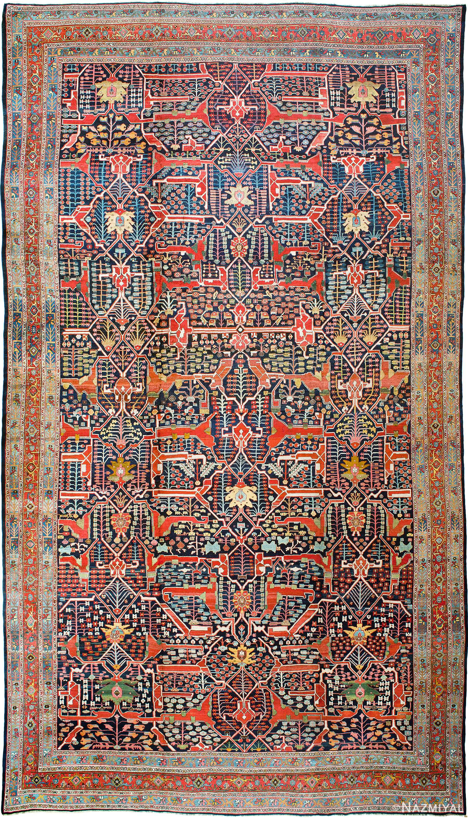 Antique Persian Bidjar Rug Nazmiyal