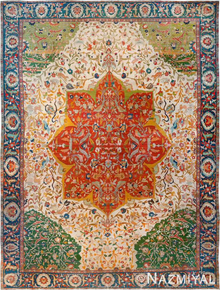 Antique Persian Tabriz Rug by Nazmiyal