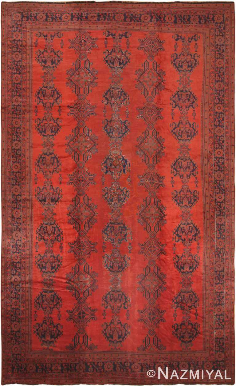 Oversized Antique Turkish Oushak Rug 50454 by Nazmiyal NYC