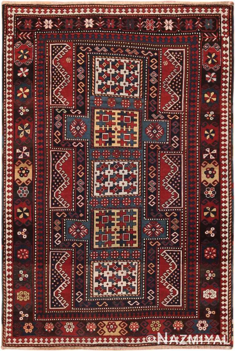 Tribal Antique Kazak Caucasian Rug 70301 by Nazmiyal NYC