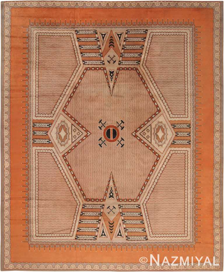 Antique Art Deco French Rug 70187 by Nazmiyal NYC
