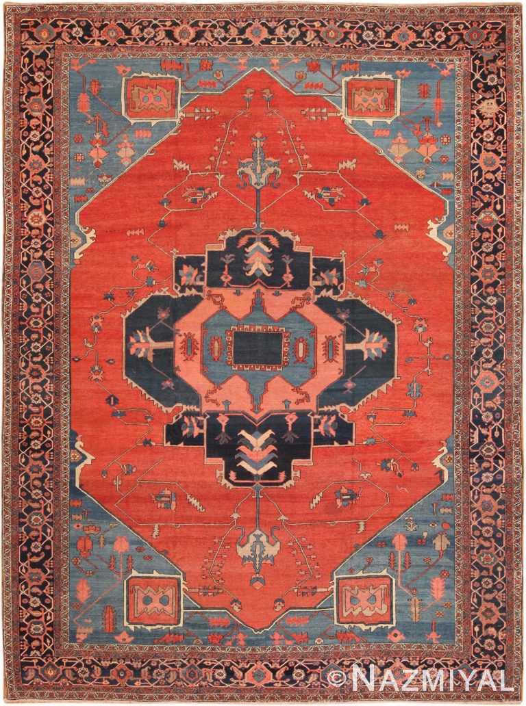 Antique Bakshaish Persian Rug 70306 by Nazmiyal NYC