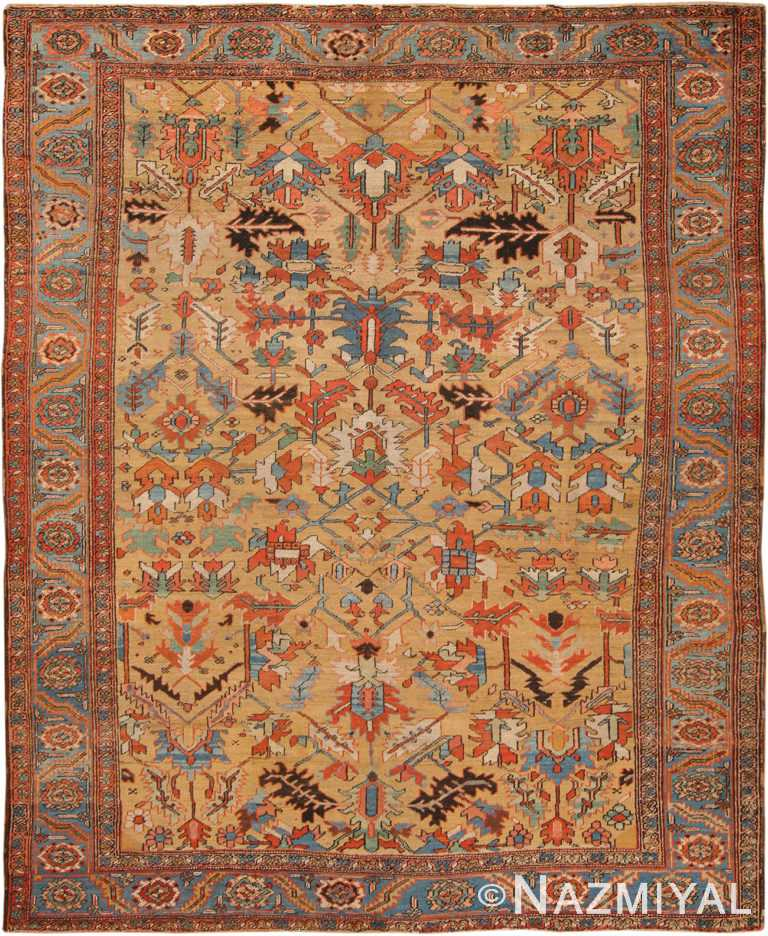 Antique Heriz Persian Rug 70319 by Nazmiyal NYC