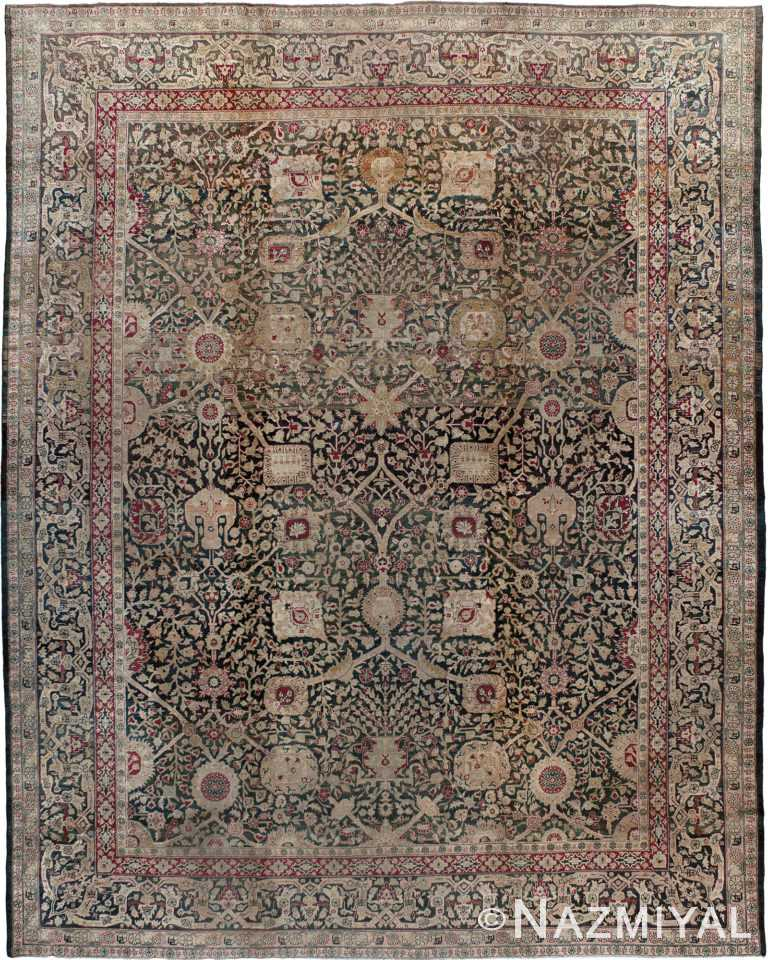 Antique Indian Agra Rug Nazmiyal