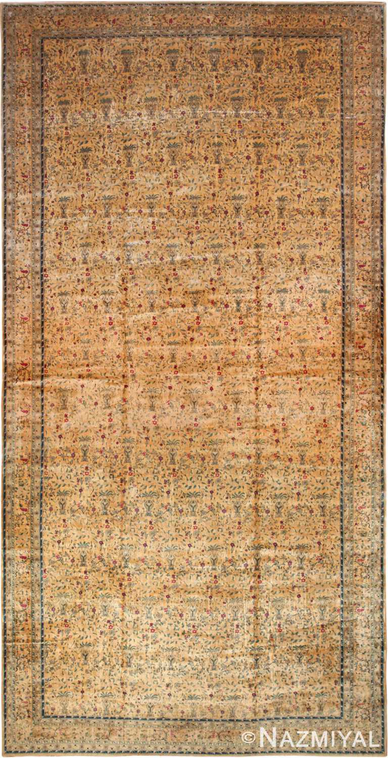 Oversized Antique Indian Rug 70305 by Nazmiyal NYC