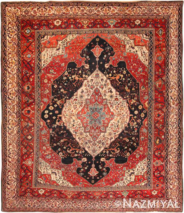Antique Persian Bakhtiari Rug 70321 by Nazmiyal NYC