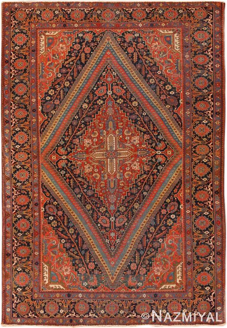 Antique Persian Mohtasham Kashan Rug 70307 by Nazmiyal NYC