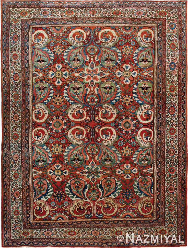 Antique Persian Sultanabad Rug Nazmiyal