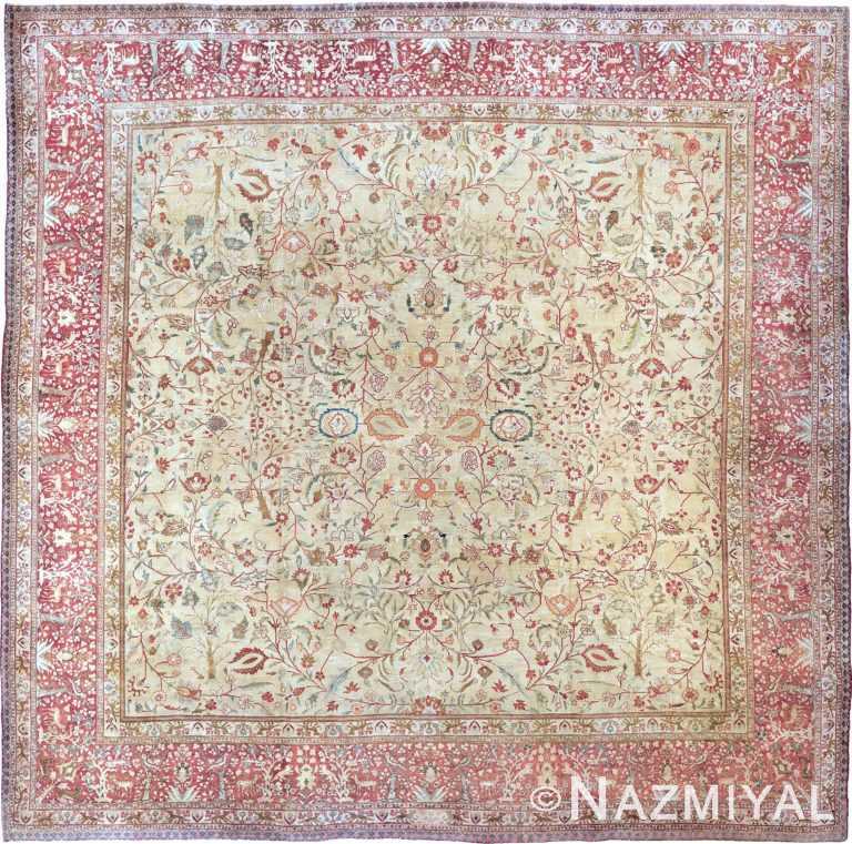 Antique Persian Tabriz Rug 90027 by Nazmiyal NYC