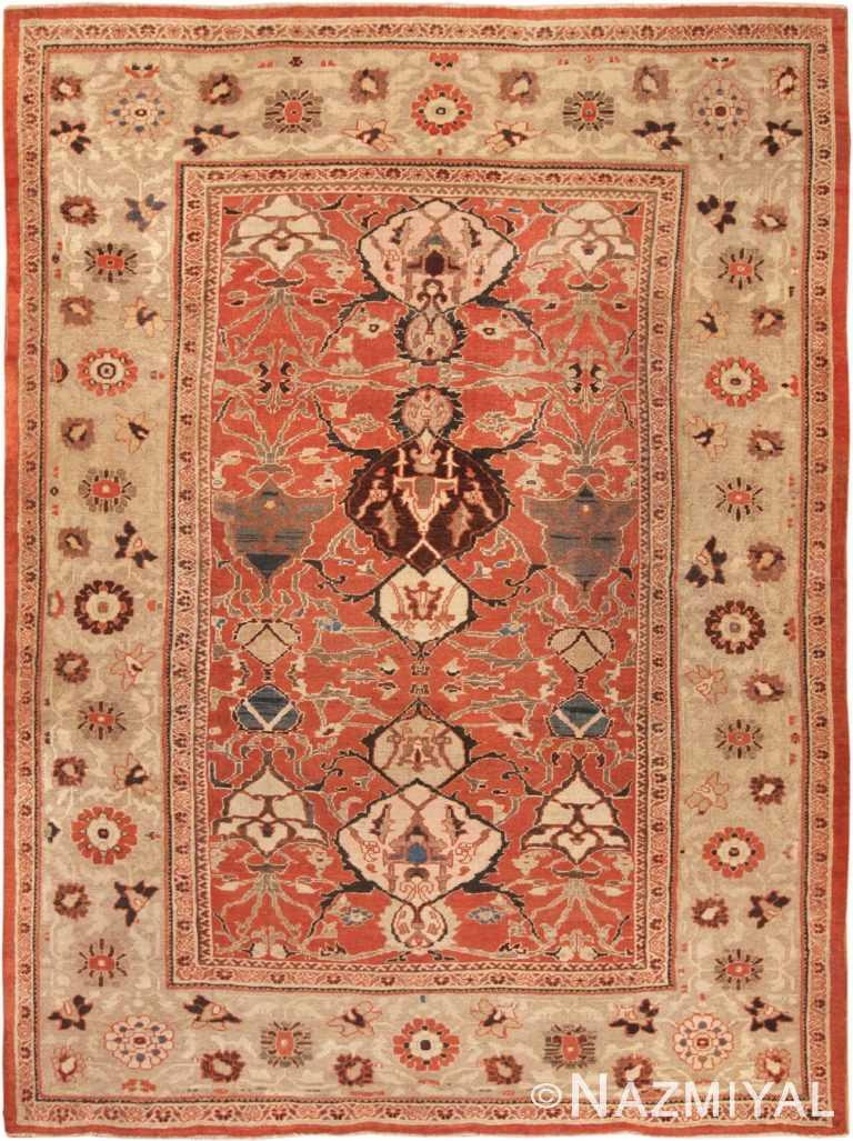Antique Sultanabad Persian Rug 70218 by Nazmiyal NYC