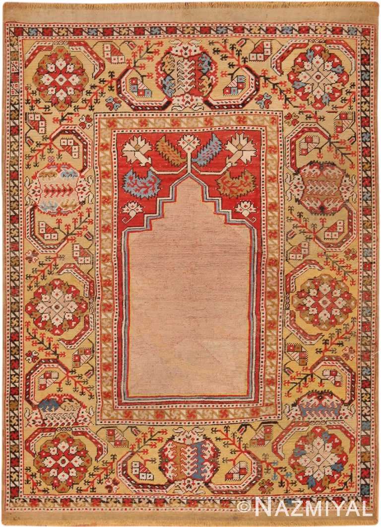 17th Century Transylvanian Prayer Rug 70331 by Nazmiyal NYC