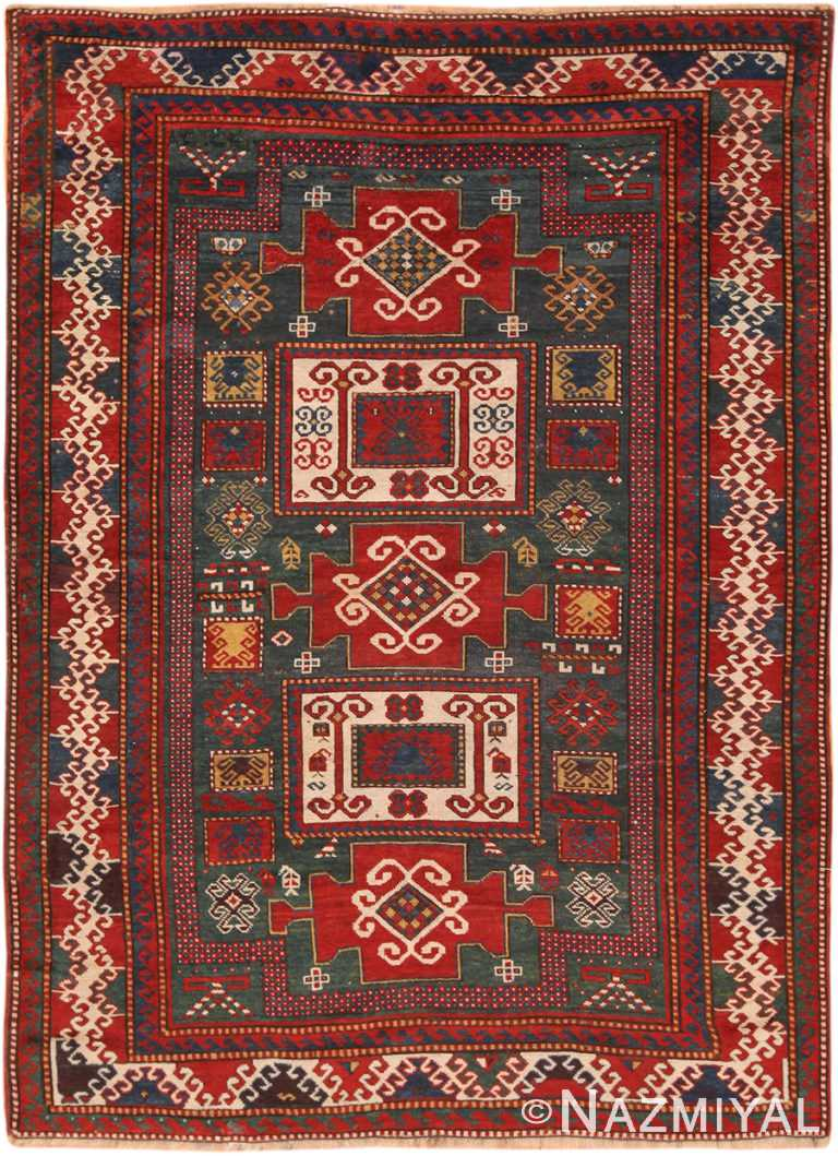 Antique Caucasian Kazak Rug 70348 by Nazmiyal NYC