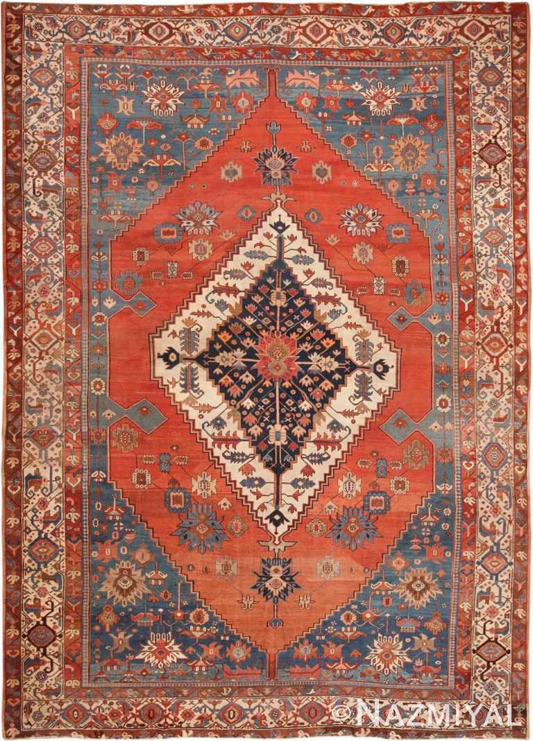 Antique Persian Bakshaish Rug 70318 by Nazmiyal NYC