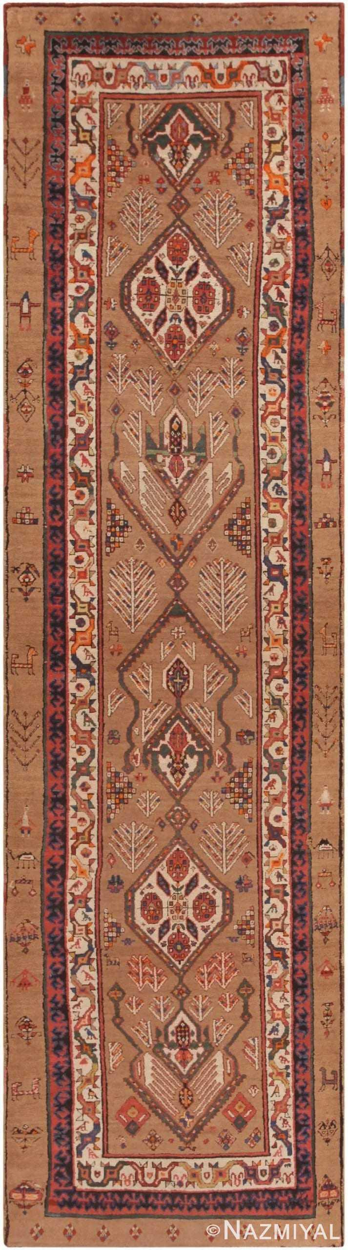 Antique Serab Persian Runner 44402 by Nazmiyal NYC