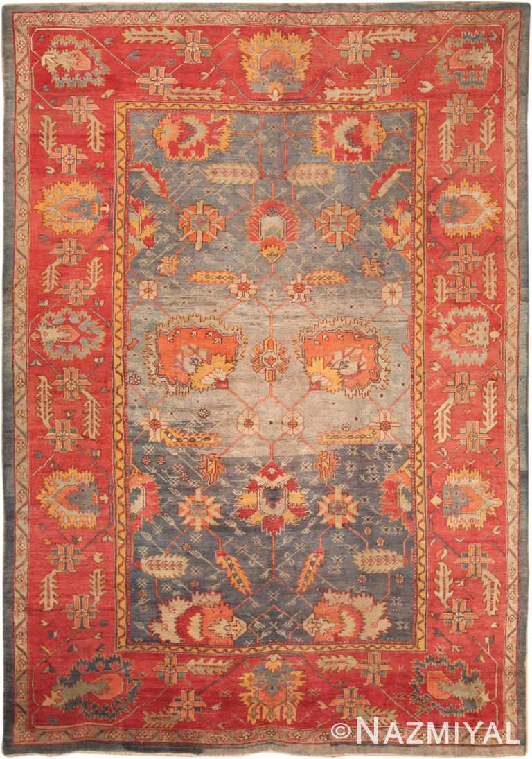 Large Antique Turkish Oushak Rug 49596 by Nazmiyal NYC