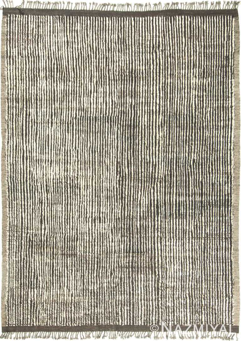 Brown and Ivory Modern Boho Chic Area Rug #142705416 by Nazmiyal Antique Rugs