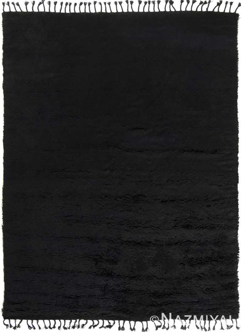 Black Contemporary Modern Boho Chic Room Size Carpet #142724033 by Nazmiyal Antique Rugs