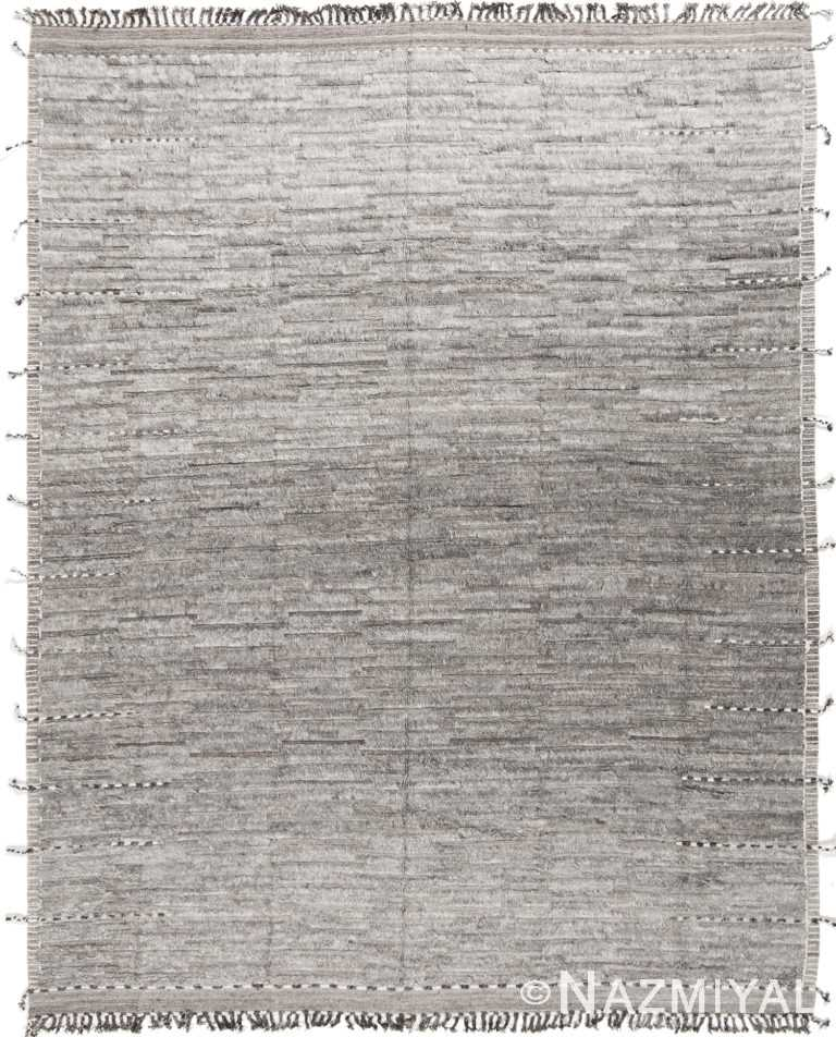 Plush Textured Gray Modern Boho Chic Room Size Rug #142793504 by Nazmiyal Antique Rugs