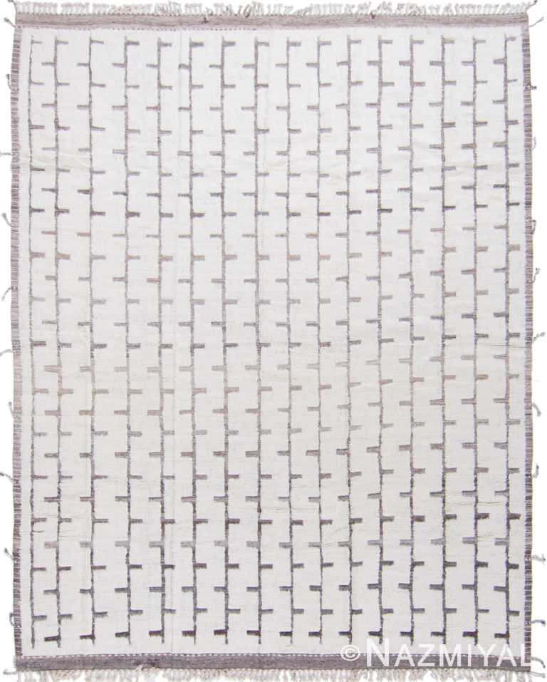 Geometric Primitive Design Modern Boho Chic Wool Rug #142794730 by Nazmiyal Antique Rugs