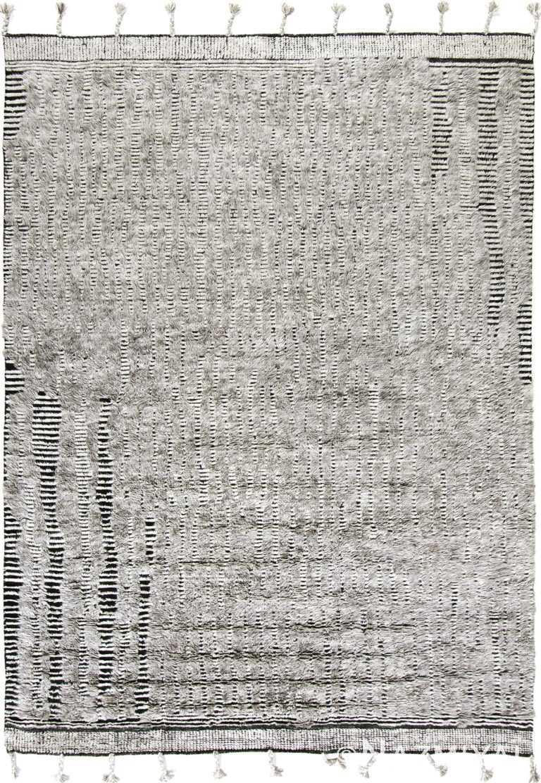 Textured Gray and Black Plush Modern Boho Chic Rug #142807906 by Nazmiyal Antique Rugs