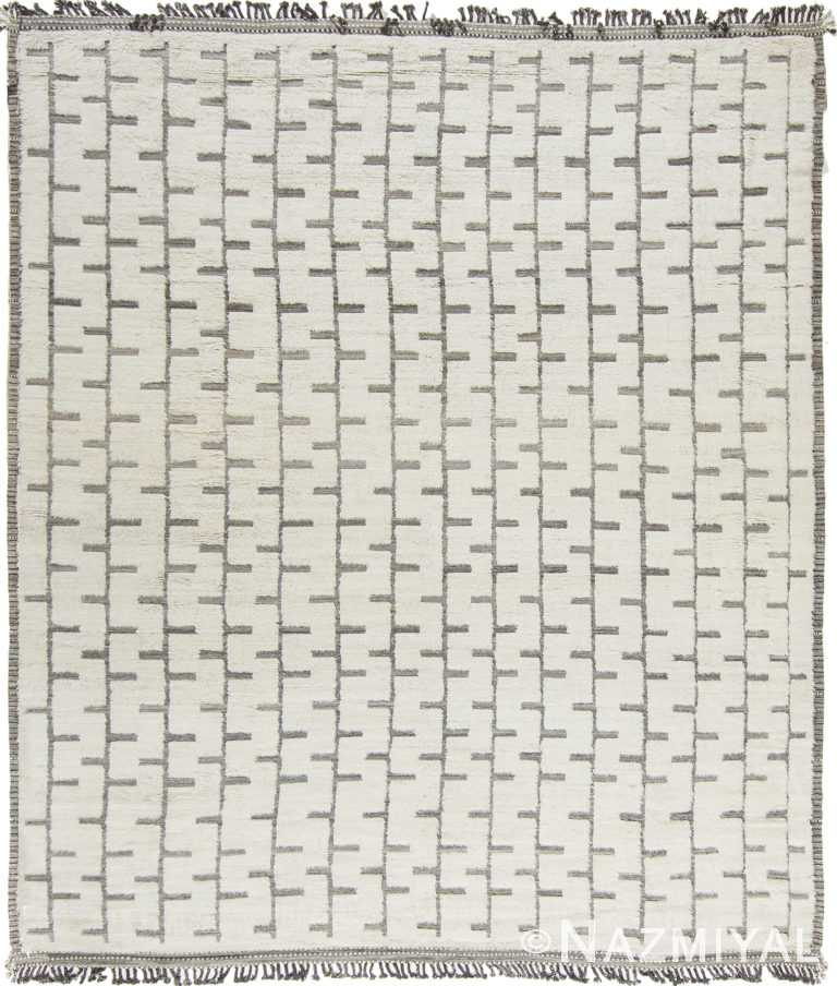 Modern Boho Chic Rug 142814867 by Nazmiyal NYC