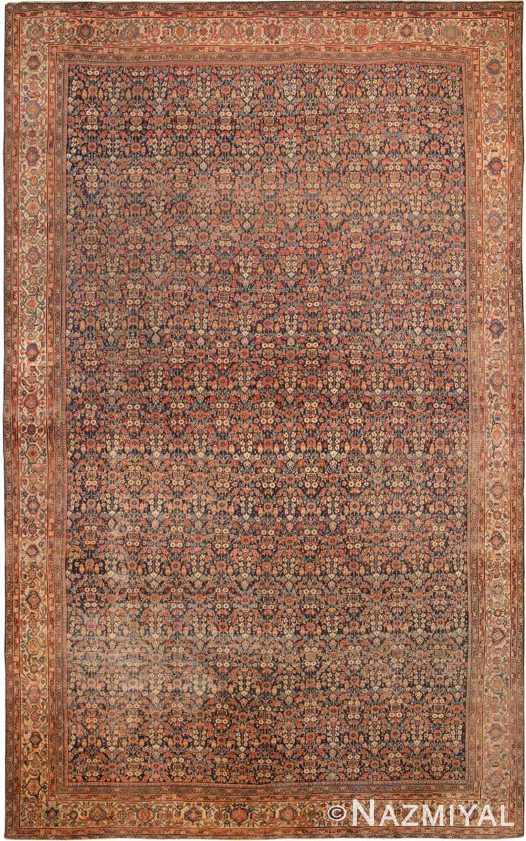 Oversized Antique Persian Mahal Sultanabad Rug 70298 by Nazmiyal NYC