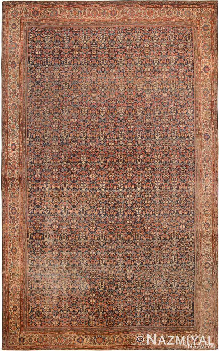 Oversized Antique Persian Mahal Sultanabad Area Rug 70298 by Nazmiyal Antique Rugs