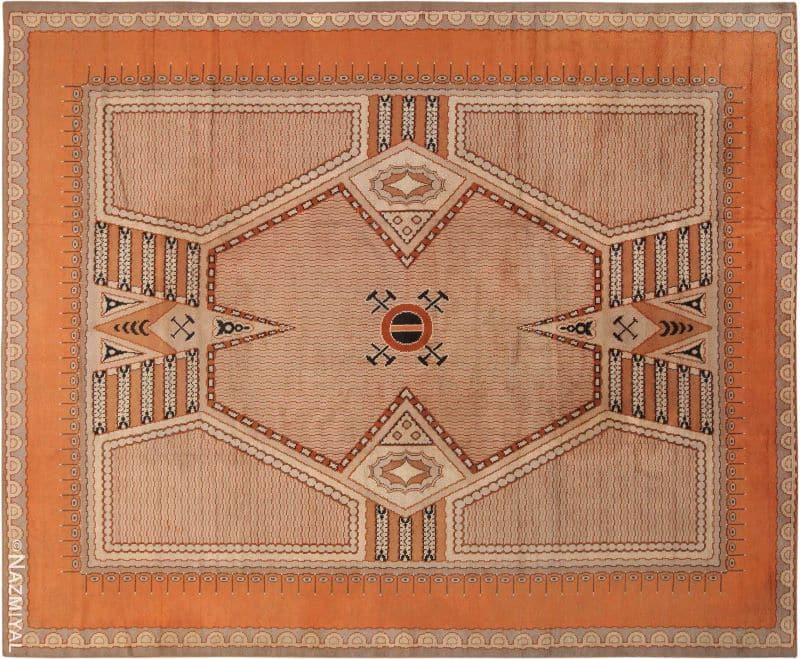 Large Antique French Art Deco Rug Nazmiyal