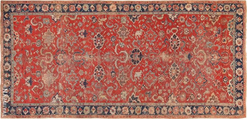 Antique 17th Century Northwest Persian Animal Rug Nazmiyal