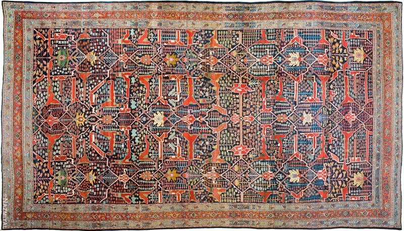Oversized Antique Persian Bidjar Rug Nazmiyal