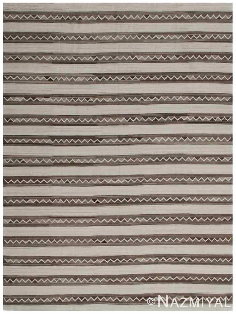 Modern Flat Weave Rug 80985617 by Nazmiyal NYC