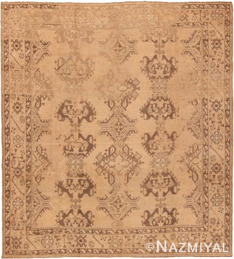 Antique Turkish Oushak Rug 46693 by Nazmiyal NYC