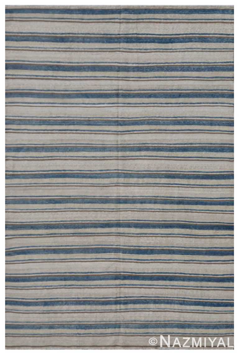 Modern Flat Weave Rug 801253520 by Nazmiyal NYC