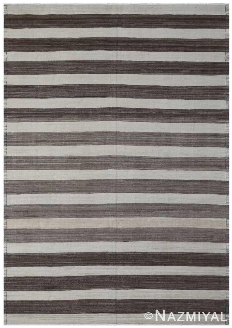 Modern Flat Weave Rug 801425833 by Nazmiyal NYC