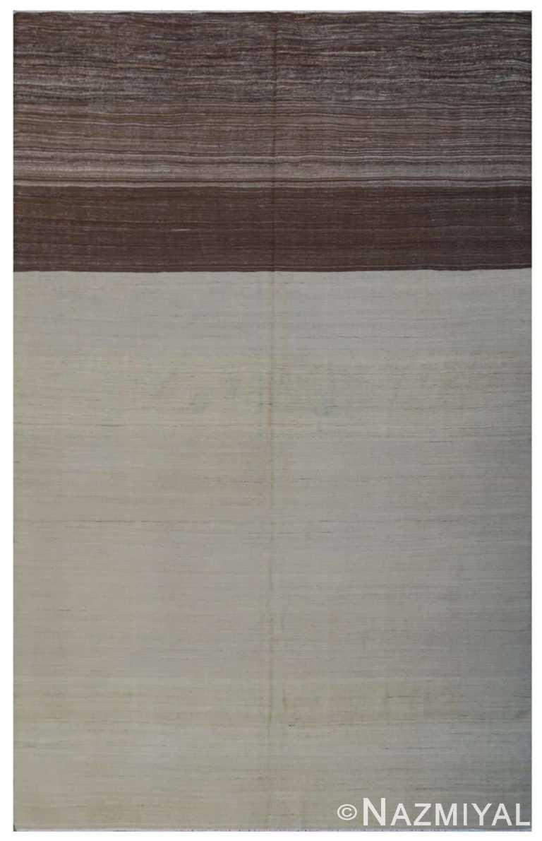 Modern Flat Weave Rug 801478697 by Nazmiyal NYC