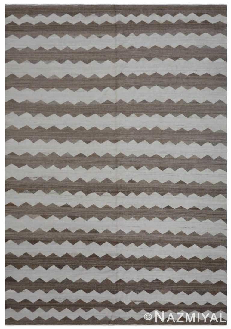 Modern Flat Weave Rug 801502153 by Nazmiyal NYC