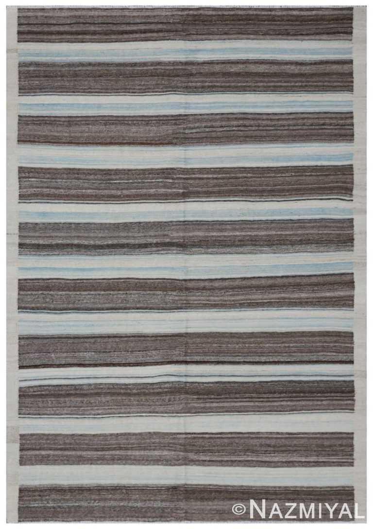 Modern Flat Weave Rug 801502210 by Nazmiyal NYC