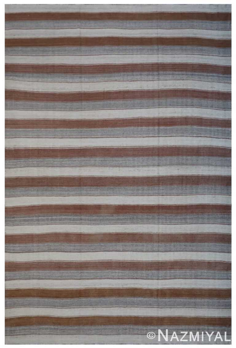 Modern Flat Weave Rug 801686685 by Nazmiyal NYC