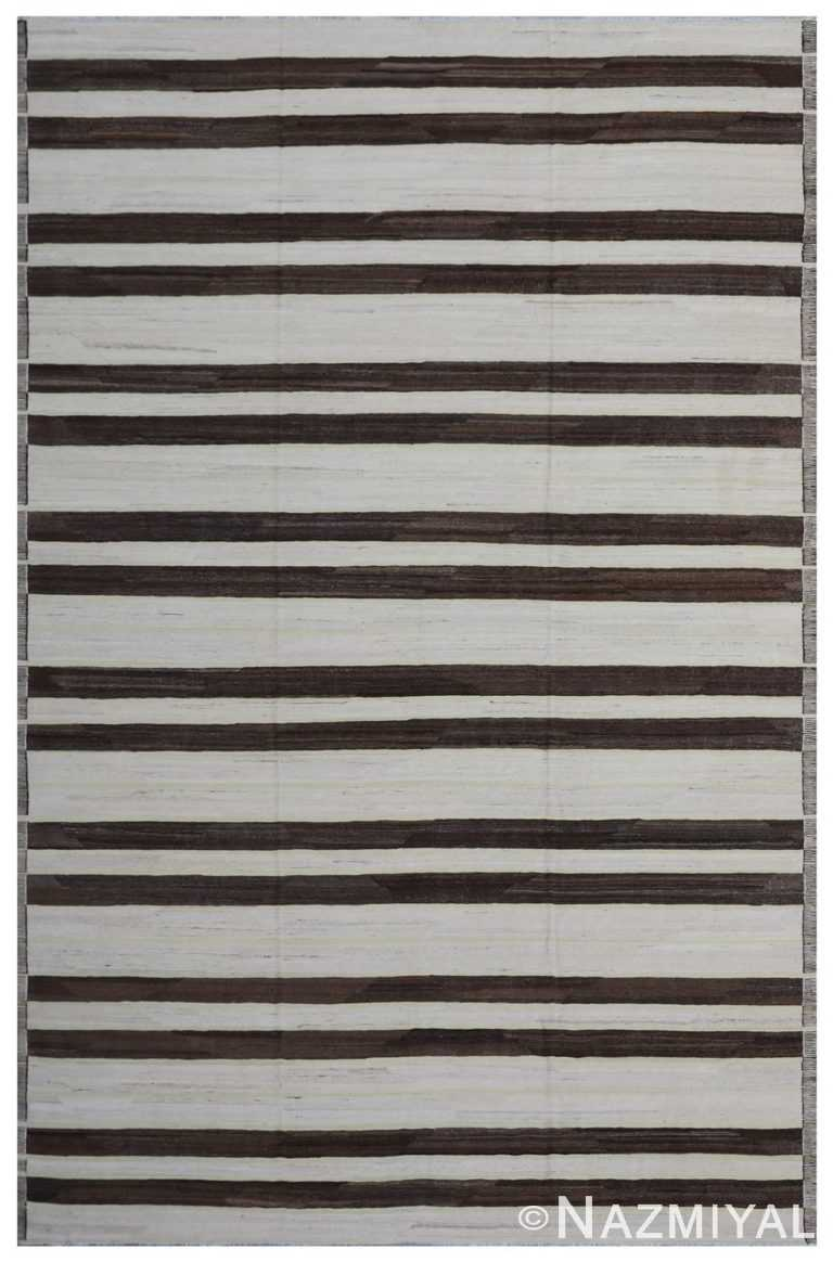 Modern Flat Weave Rug 801750910 by Nazmiyal NYC