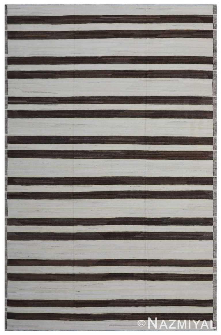 Modern Flat Weave Rug 801750910 by Nazmiyal NYC