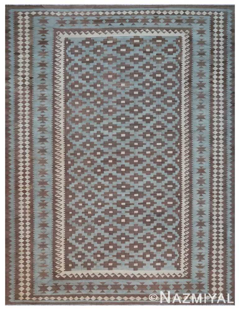 Modern Flat Weave Rug 801817264 by Nazmiyal NYC