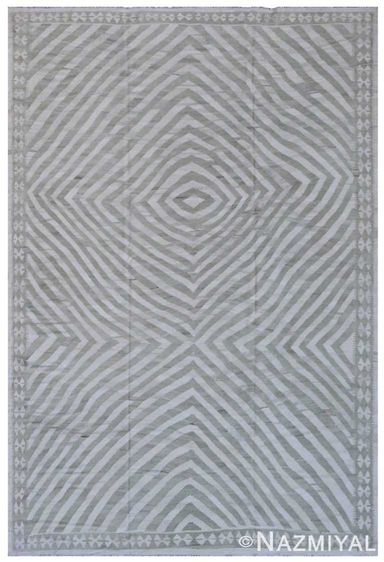 Modern Flat Weave Rug 801818493 by Nazmiyal NYC