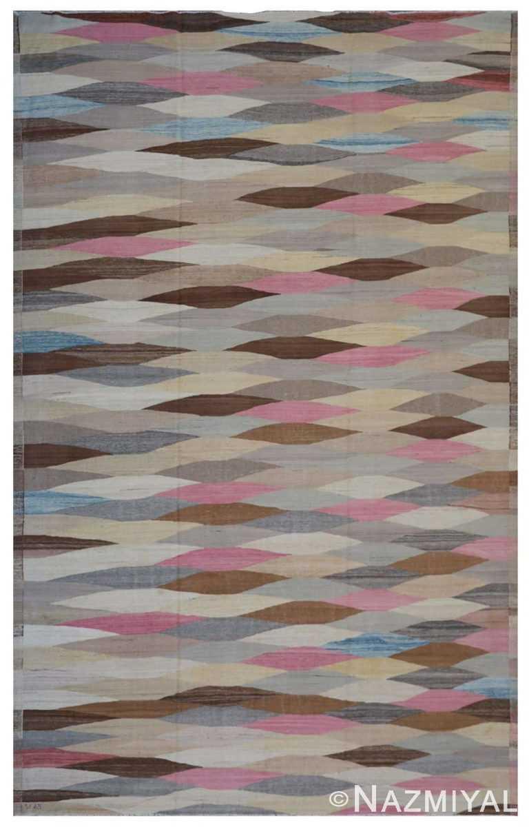 Modern Flat Weave Rug 801841372 by Nazmiyal NYC