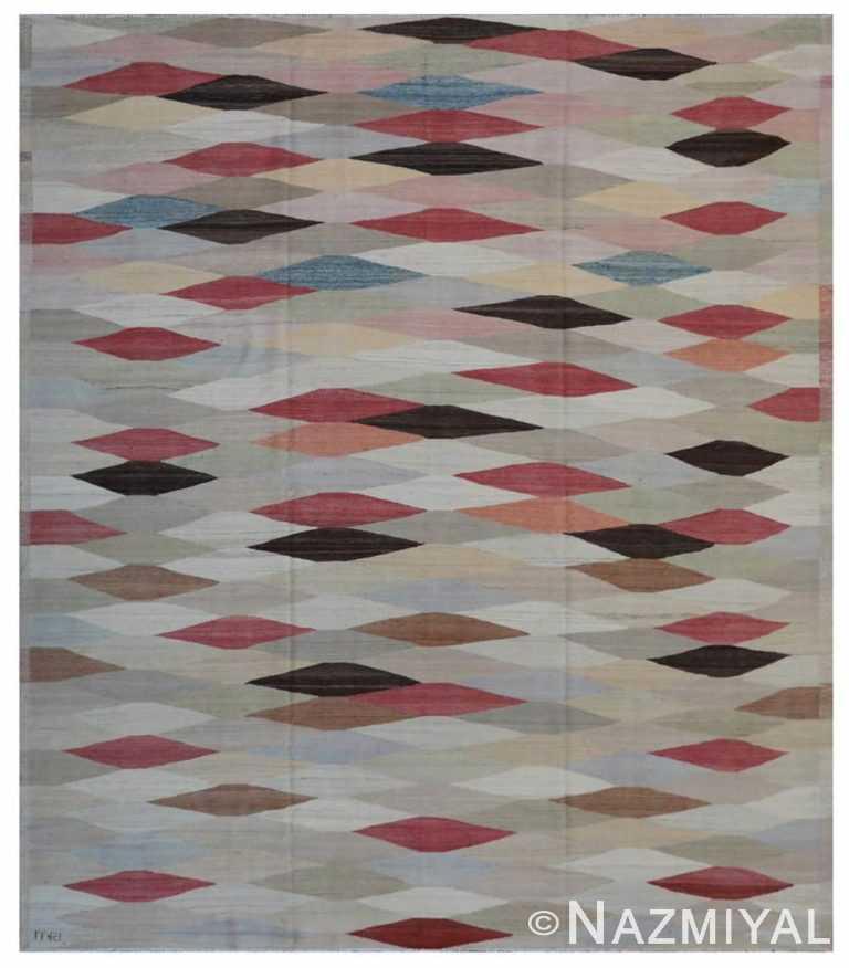 Modern Flat Weave Rug 801843577 by Nazmiyal NYC