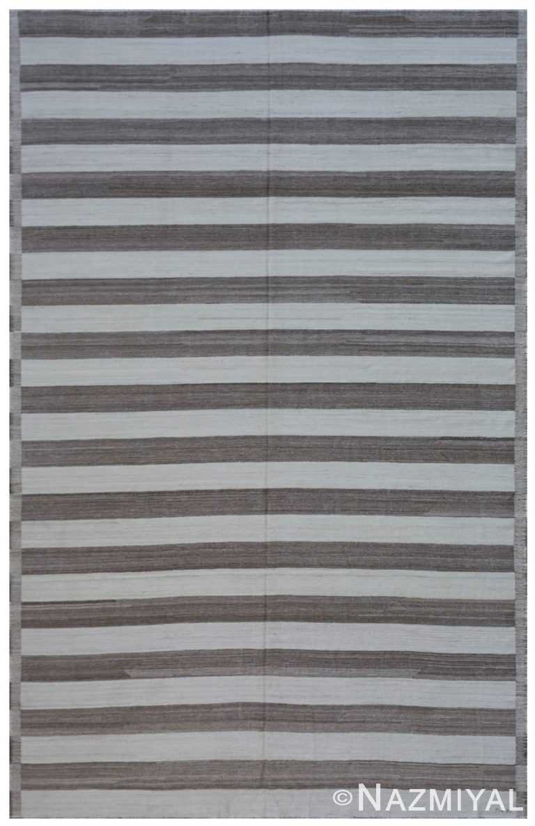 Modern Flat Weave Rug 801864330 by Nazmiyal NYC